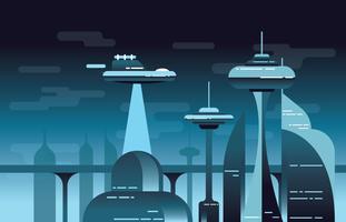 Futuristische Landschaft vektor