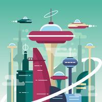 Framtidens stad vektor