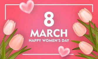 glücklicher Frauentaghintergrund vektor