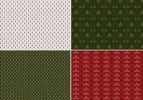 Weihnachtsbaum Illustrator Pattern Pack vektor