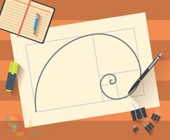 guldförhållande vektor illustration