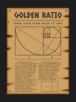 Ehrfürchtige goldene Verhältnis-Vektoren