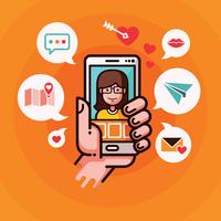 Online-Dating-Illustration vektor