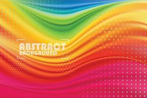 bunter Broschürenfliegerbannerhintergrund, abstrakter Hintergrund der leeren Wellenfarbe