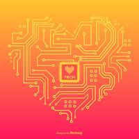 In Liebe mit Technologie-Vektor-Konzept-Design vektor