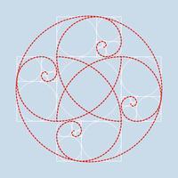 Goldener Verhältnis-Illustrations-Vektor vektor