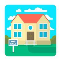 Haus zu verkaufen vektor