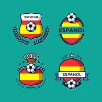 espanol fotboll patch vektor