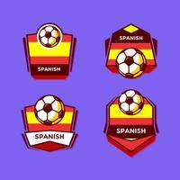 Spanska fotbollspatchesvektor vektor