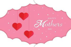 glückliche Muttertagsgrußschablone vektor