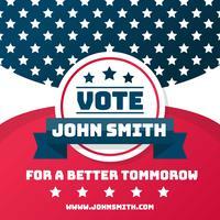 Politisk kampanjdesign vektor