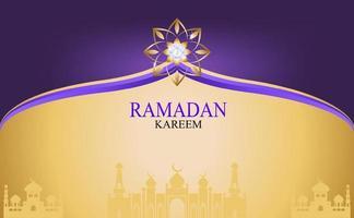 guld ramadan kareem vektor för önskan om islamisk festival.