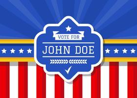 Politische Kampagne Zeichen Vektor