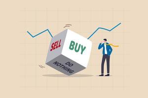 Investitionsentscheidung in volatilem Börsenkonzept vektor