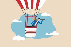 Geschäftsvisionär, Führung, um den Missionssieg oder das Karrierewegkonzept zu planen vektor