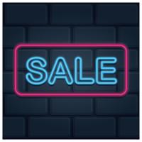 Neon-Verkauf mit rosa Rahmen