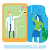 das Arztvektorbild für Krankenhaus und medizinischen Inhalt. vektor
