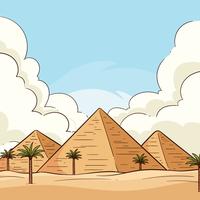 Egyptiska pyramiderna vektor