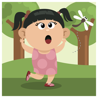 En tjej jagar slända
