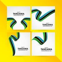 glad tanzania självständighetsdagen firande vektor mall design illustration
