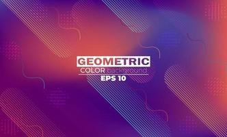 geometrisk bakgrund med lutning rörelse former komposition. vektor