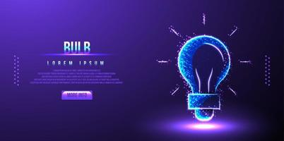 Glühbirne Idee Low Poly Wireframe Vektor-Illustration vektor