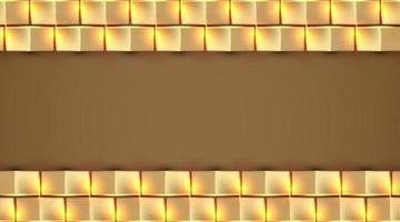 goldene quadratische Hintergrundvektorillustration vektor