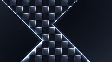 quadratischer realistischer geometrischer dunkler Hintergrund. weißes Glanzlicht, Vektorillustration vektor