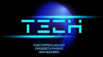 tech, teknik alfabetet, vektorillustration vektor