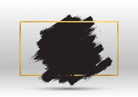 Grunge-Hintergrund mit metallischem Goldrahmen vektor