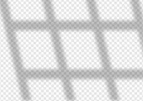Fensterschatten-Overlay-Hintergrunddesign vektor