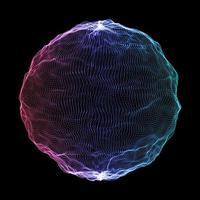 abstrakter Netzwerkkommunikationshintergrund mit Teilchenkugel vektor