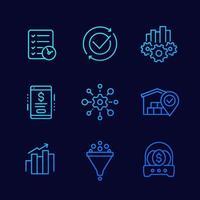 fitness, hälsa, gym trendiga ikoner på cirklar vektor