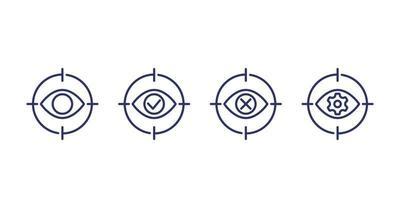 Fitness, Gesundheit, Fitnessstudio trendige Ikonen auf Kreisen vektor
