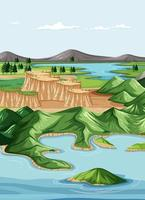 natur geografiska landskap vektor