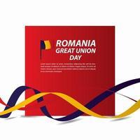 Rumänien great union självständighetsdagen firande banner vektor mall design illustration