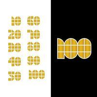 100 års jubileum firande vektor mall design illustration