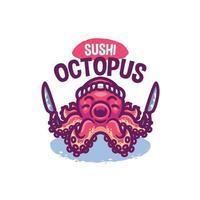 Oktopus Meerestier Cartoon vektor