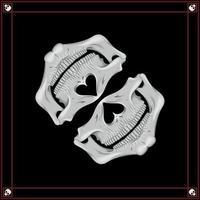 Bandana-Vektor mit halbem Schädel vektor