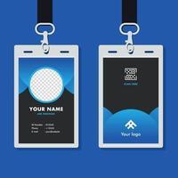 professionell företags id-kort mall mockup