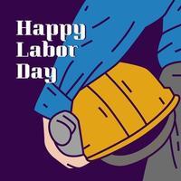 glad arbetsdag affisch. internationella arbetarnas dag vektor