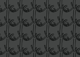 handritad, grå, svart färg sömlösa mönster vektor