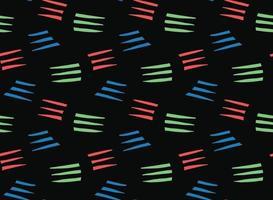 handritad, svart, röd, grön, blå färg linjer sömlösa mönster vektor