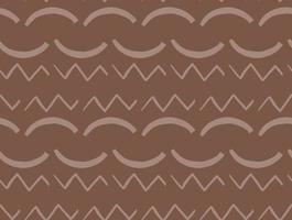 handgezeichnetes, braunes nahtloses Muster vektor