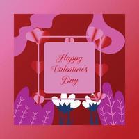 glad Alla hjärtans dag affisch vektor