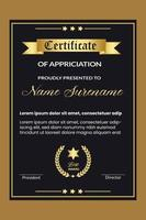 Professionelles Zertifikatdesign für die beste Vorlage für Mitarbeiterprämien vektor