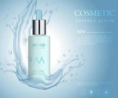 realistische Serum kosmetische Werbung bearbeitbare Banner vektor
