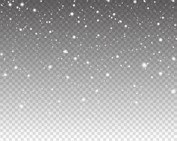realistisch fallender Schnee. Schneeüberlagerungseffekt. fallender Schnee isoliert vektor