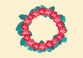 Gratis Vektor Illustration av Hawaiian Lei