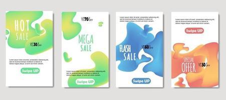 dynamische abstrakte flüssige mobile zum Verkauf Banner. Verkauf Banner Vorlage Design, Mega Sale Sonderangebot Set. Design für Flyer, Geschenkkarte, Poster an der Wand, Coverbook, Banner, Social Media vektor